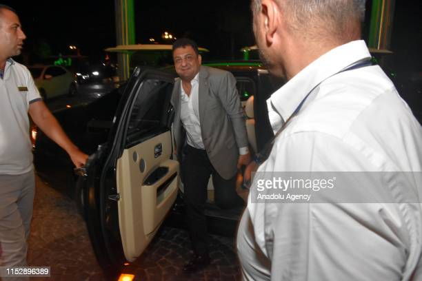 Chairman of Turkish American Business Association - American Chamber of Commerce in Turkey Ali Osman Akat arrives as Hollywood actor Steven Seagal...