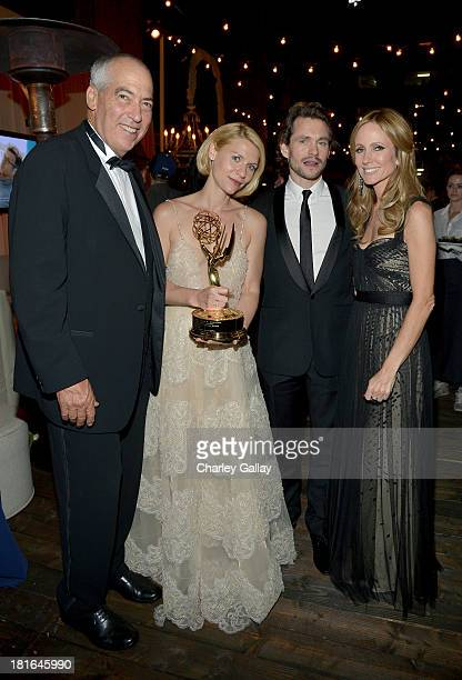 Chairman of Twentieth Century Fox Television Gary Newman actors Claire Danes Hugh Dancy and Chairman of Twentieth Century Fox Television Dana Walden...