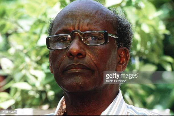 Chairman Of United Somalia Congress General Mohammed Farah Aidid Holds A Press Conference June 12 1993 In Sudan The United Nations Blamed Aidid For...