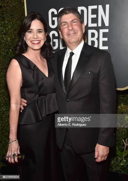 Chairman of Universal Filmed Entertainment Group Jeff Shell and Laura Shell attends The 75th Annual Golden Globe Awards at The Beverly Hilton Hotel...