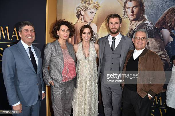 Chairman of Universal Filmed Entertainment Jeff Shell Chairman of Universal Pictures Donna Langley actress Emily Blunt actor Chris Hemsworth and Vice...