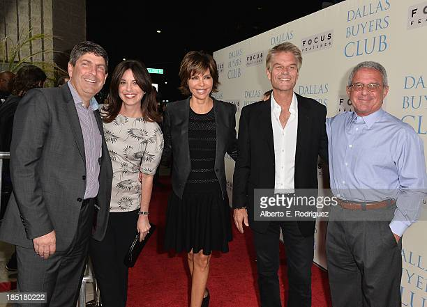 Chairman of Universal Filmed Entertainment Jeff Shell Laura Shell actress Lisa Rinna Harry Hamlin and President and COO of Universal Studios Ron...