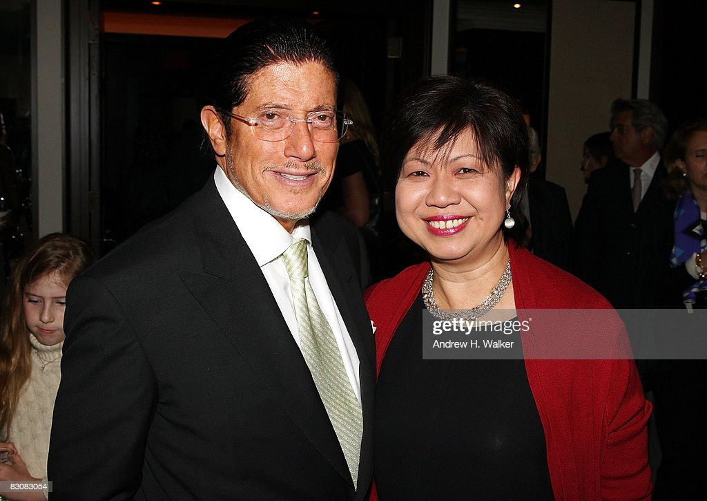 Chairman of Universal Media Carl Ruderman and President of Raffle Hotels & Resorts Diana Ee Tan attend the Raffles Hotels & Resorts and Elite Traveler Celebration of the Latest in Luxury Travel on October 1, 2008 at Daniel in New York City.
