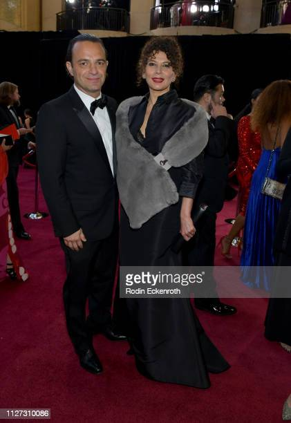 Chairman of Universal Pictures Donna Langley and Ramin Shamshiri attends the 91st Annual Academy Awards at Hollywood and Highland on February 24 2019...