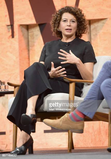 Chairman of Universal Pictures Donna Langley speaks onstage during Vanity Fair New Establishment Summit at Wallis Annenberg Center for the Performing...