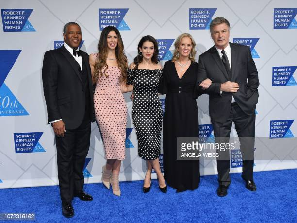 Chairman of Vista Equity Partners Robert F Smith his wife model Hope Dworaczyk Hilaria Baldwin Human Rights activist Kerry Kennedy and actor Alec...