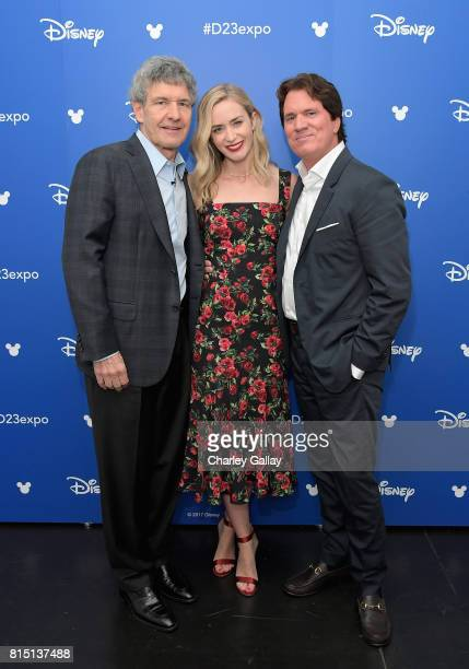 Chairman of Walt Disney Studios Alan Horn actor Emily Blunt and director Rob Marshall of MARY POPPINS RETURNS took part today in the Walt Disney...
