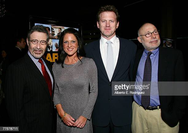 Chairman of Warner Brothers Barry Meyer Producer Cathy Schulman writer and director Ted Braun and producer Mark Jonathan Harris arrive at the Warner...