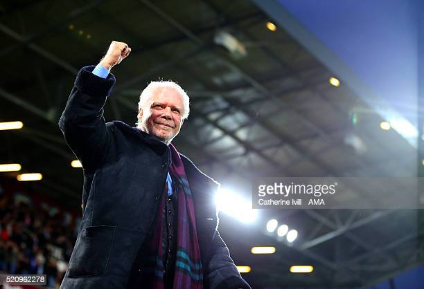 Chairman of West Ham United David Gold during the Emirates FA Cup Sixth Round Replay match between West Ham United and Manchester United at Boleyn...