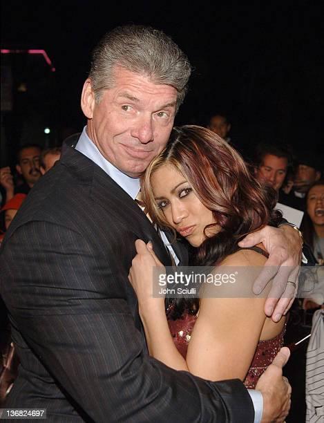 Chairman of WWE Vince McMahon and Melina WWE Diva