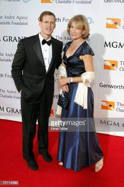 Chairman President and CEO of Genworth Financial Inc Michael D Fraizer and wife Elizabeth Fraizer arrive at the 11th annual Andre Agassi Charitable...