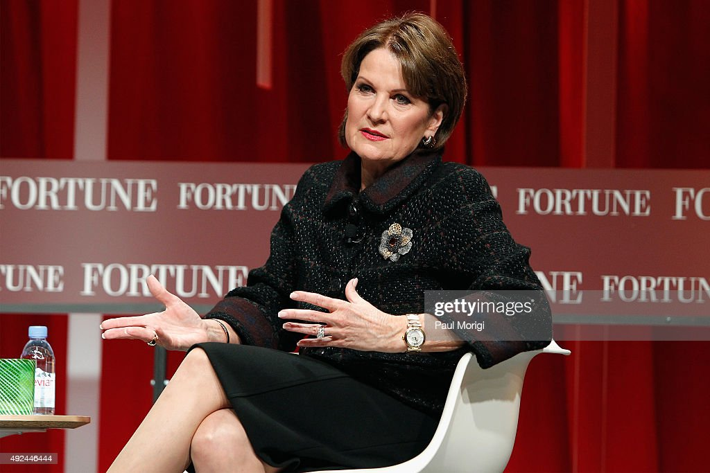 Chairman, President, and CEO of Lockheed Martin Marillyn Hewson speaks onstage during Fortune's Most Powerful Women Summit - Day 2 at the Mandarin Oriental Hotel on October 13, 2015 in Washington, DC.