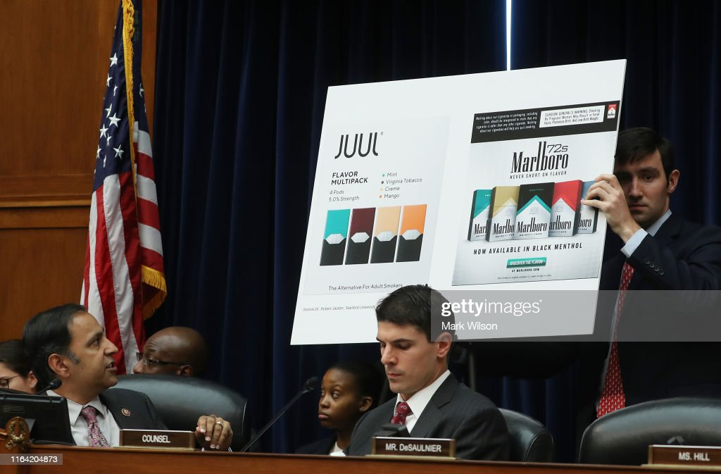 JUUL Co-Founder James Monsees Testifies On Company's Role In The Youth Nicotine Epidemic : News Photo