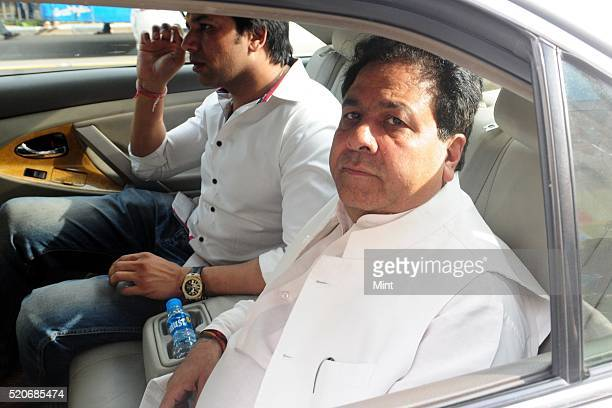 Chairman Rajeev Shukla leaves after paying his last homage to late Jagmohan Dalmiya President of BCCI at Eden on September 21 2015 in Kolkata India