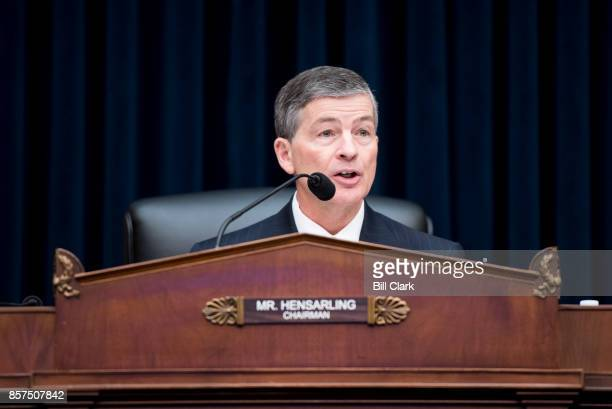 Chairman Rep Jeb Hensarling RTexas speaks during the House Financial Services Committee hearing on 'Examining the SEC's Agenda Operations and Budget'...
