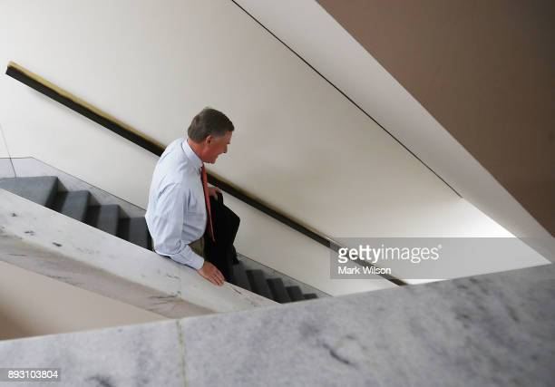 Chairman Richard Burr leaves Senate Intelligence Committee closed door hearing on December 14 2017 in Washington DC The committee is investigating...