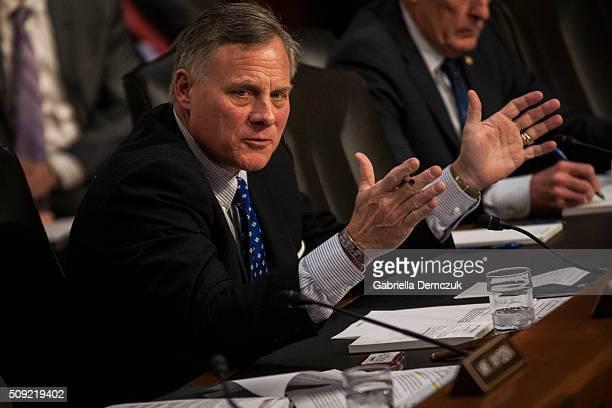 WASHINGTON DC FEBRUARY Chairman Richard Burr speaks during the Senate Intelligence Committee hearing at the Hart Senate Building on February 9 2016...