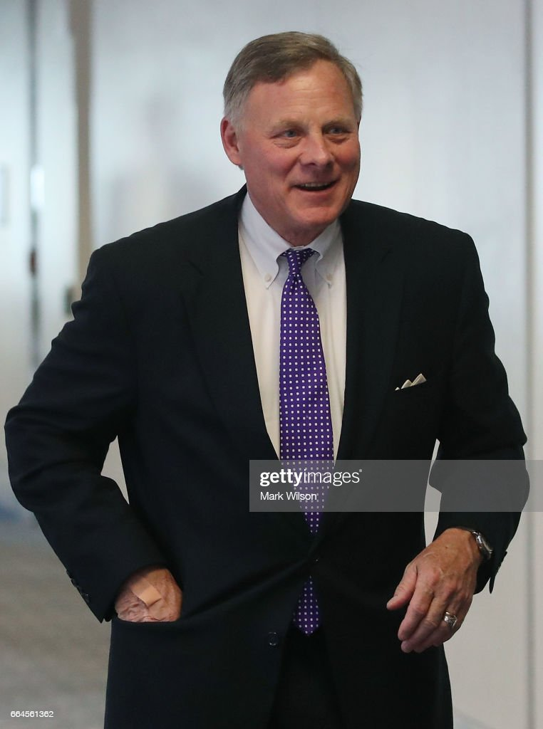 Chairman Richard Burr (R-NC), walks to a Senate Select Committee on Intelligence closed door meeting at the U.S. Capitol, on April 4, 2017 in Washington, DC. The committee has launch an investigation into possible Russian interference in the U.S. presidential election.