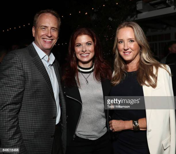 Chairman Robert Greenblatt Debra Messing and NBC Entertainment President Jennifer Salke attend the 2017 Gersh Emmy Party presented by Tequila Don...