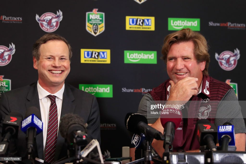 Manly Sea Eagles Press Conference : News Photo