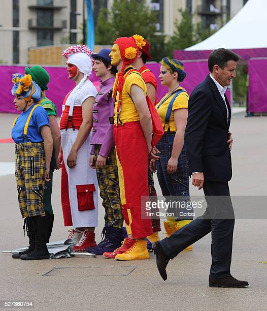 LOCOG chairman Sebastian Coe watching The National Youth Theatre perform a spectacular immersive performance the first of fiftyfive welcoming...