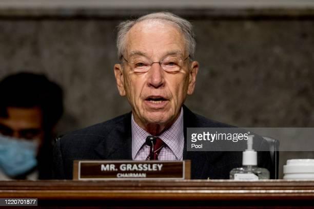 Chairman Sen. Chuck Grassley, R-Iowa, speaks at a Senate Finance Committee hearing on U.S. Trade on Capitol Hill, on June 17 in Washington DC.