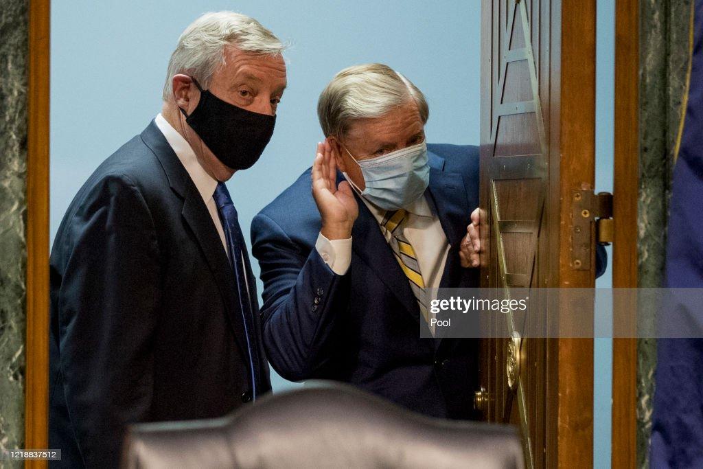 Senate Judiciary Hears Testimony On Law Enforcement's Response To Coronavirus Pandemic : News Photo