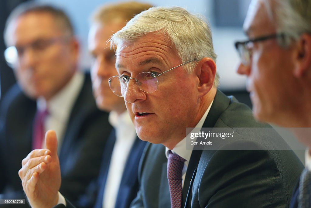 Chairman Steven Lowy addresses media during a press conference where they annnounced a six year deal with Fox Sports worth 346 million dollars at the FFA Offices on December 20, 2016 in Sydney, Australia.
