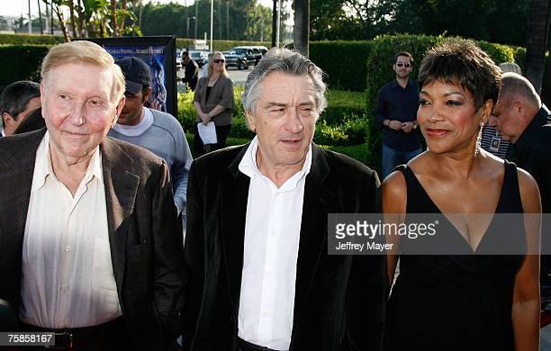 Chairman Sumner Redstone actor Robert De Niro and wife Grace De Niro arrive at the ' Stardust ' Los Angeles premiere at Paramount Studio Theatre on...