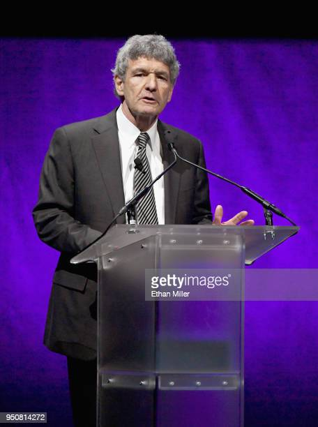 Chairman The Walt Disney Studios Alan Horn speaks onstage during the CinemaCon 2018 The State of the Industry and Walt Disney Studios Presentation at...