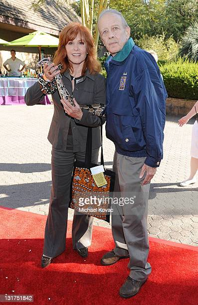 Chairman Tom Mankiewicz and Stefanie Powers attend the Greater Los Angeles Zoo Association's 40th Annual Beastly Ball at Los Angeles Zoo on June 19...