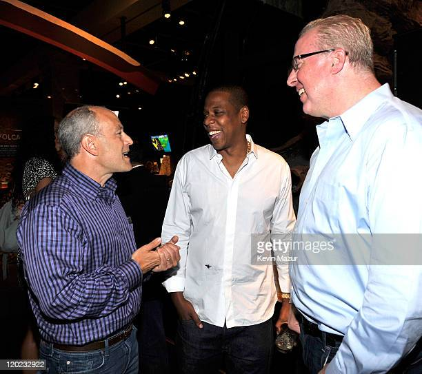Chairman Universal Motown Republic and Island Def Jam Music Group Barry Weiss JayZ and President and COO of Island Def Jam Music Group Steve Bartels...