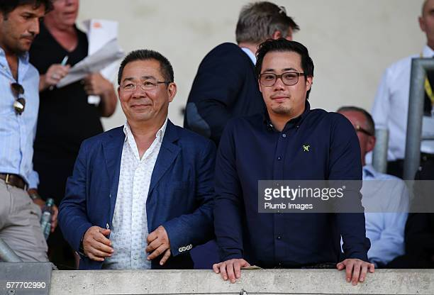 Chairman Vichai Srivaddhanaprabha and vice chairman Aiyawatt Srivaddhanaprabha of Leicester City ahead of the pre season friendly between Oxford...