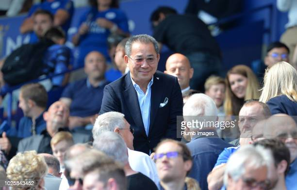 Chairman Vichai Srivaddhanaprabha of Leicester City during the Premier League match between Leicester City and Liverpool FC at The King Power Stadium...