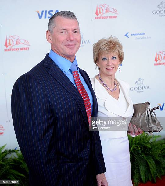 Chairman Vince McMahon and his wife Linda McMahon, CEO of World Wrestling Entertainment, Inc., attend the 134th running of the Kentucky Derby at...