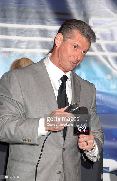 WWE Chairman Vince McMahon during Donald Trump and WWE News Conference for WrestleMania 23 at Trump Tower in New York City New York United States