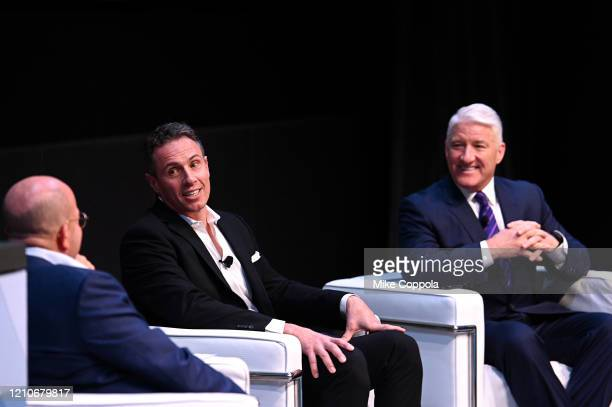 Chairman WarnerMedia New Sports President CNN Worldwide Jeff Zucker Chris Cuomo and John King speak onstage during CNN Experience on March 05 2020 in...
