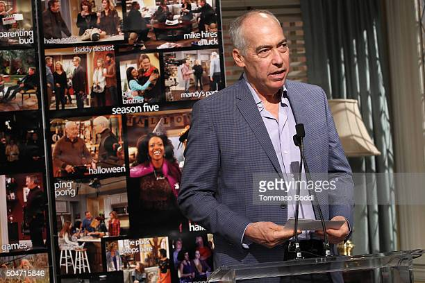 "Chairman/CEO, Fox Television Group Gary Newman attends the 100th episode celebration of ABC's ""Last Man Standing"" held at CBS Studios - Radford on..."