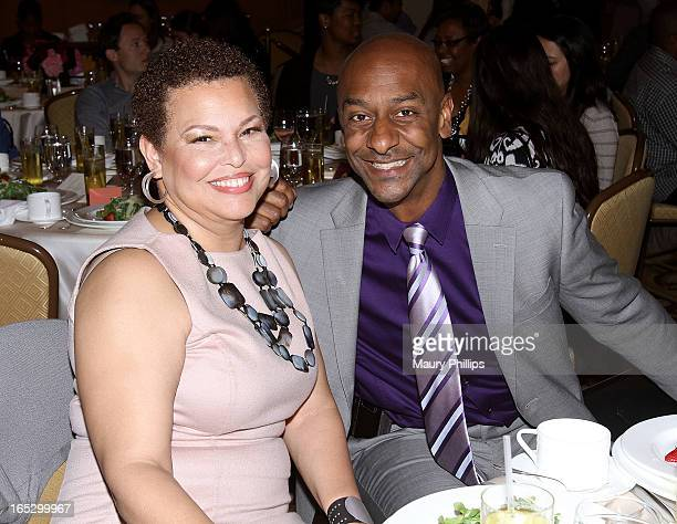 Chairman/CEO of BET Networks Debra Lee and President of Music Programming BET Networks Stephen Hill attend BET Networks 2013 Los Angeles Upfront at...