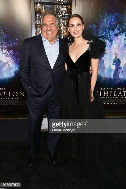 Chairman/CEO of Paramount Motion Picture Group Jim Gianopulos and Natalie Portman attend the premiere of Paramount Pictures' 'Annihilation' at...