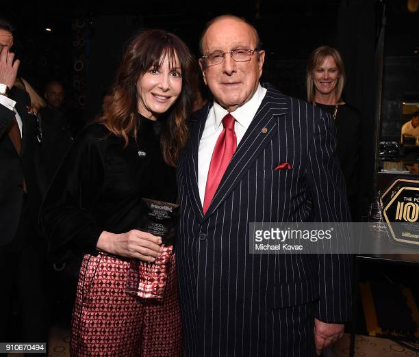 Chairman/CEO of Universal Music Publishing Group Jody Gerson and Clive Davis attend the 2018 Billboard Power 100 celebration at Nobu 57 on January 25...