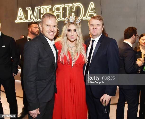 Chairman/CEO RCA Records Peter Edge Recording Artist Kesha CEO Sony Music Entertainment Rob Stringer attend the Sony Music Entertainment 2018...