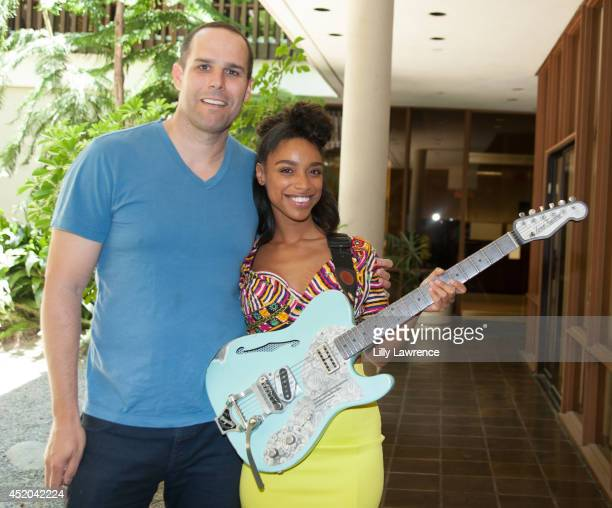 Chairman/CEO Warner/Chappell Music Cameron Strang poses for a picture with recording artist Lianne La Havas at Warner Bros Records Summer Sessions at...