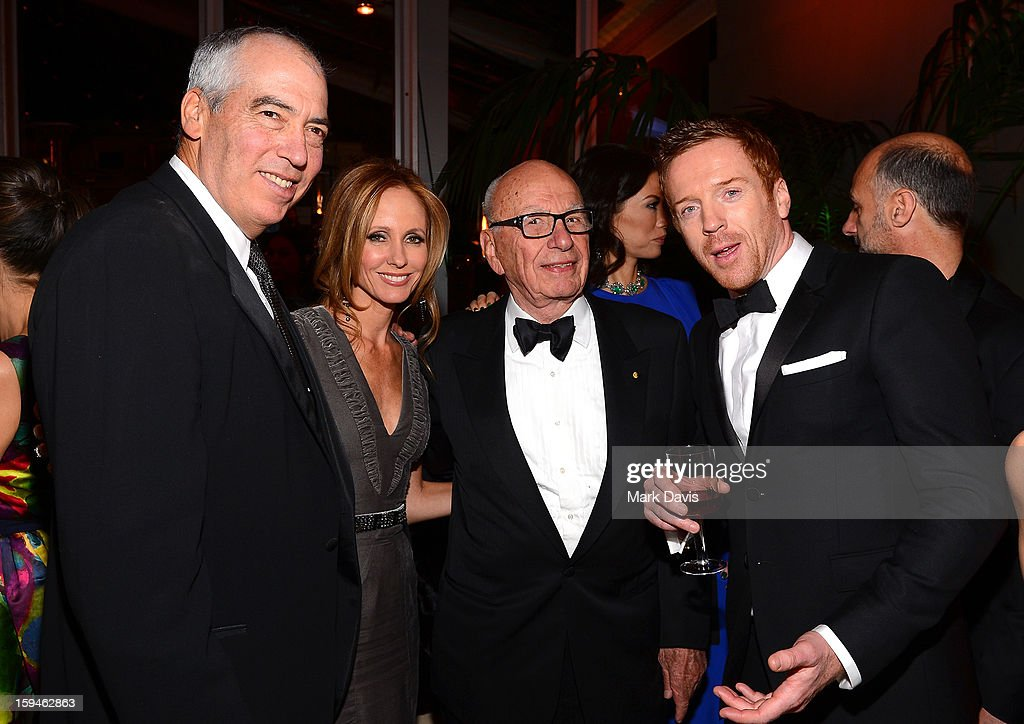 Chairmen of 20th Century Fox Television Gary Newman and Dana Walden, Rupert Murdoch, and actor Damian Lewis arrive at the FOX After Party for the 70th Annual Golden Globe Awards held at The FOX Pavillion at The Beverly Hilton Hotel on January 13, 2013 in Beverly Hills, California.