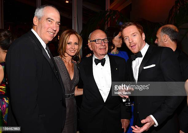 Chairmen of 20th Century Fox Television Gary Newman and Dana Walden Rupert Murdoch and actor Damian Lewis arrive at the FOX After Party for the 70th...