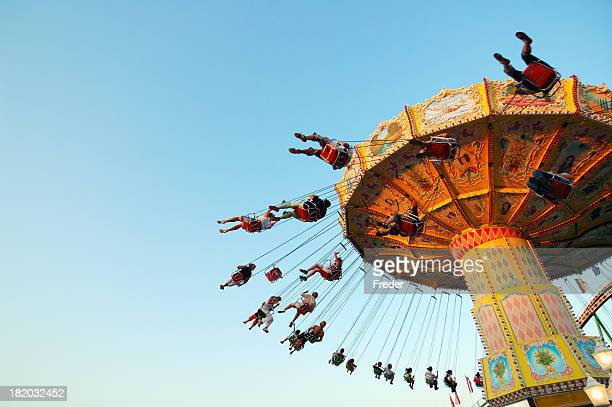 chairoplane - carnival stock photos and pictures