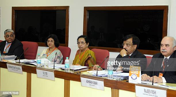 SBI Chairperson Arundhati Bhattacharya Bank Of India Chairperson VR Iyer Dena Bank Chairman Ashwani Kumar and Central Bank Of India Chairman Rajeev...