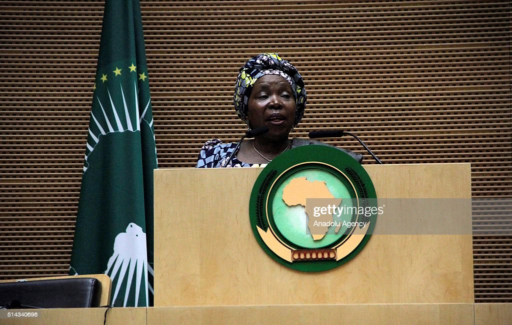 Nkosazana Dlamini Zuma attends Womens Day reception in Addis Ababa : News Photo