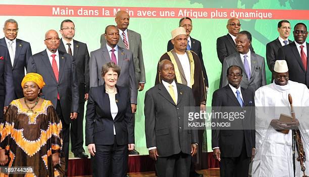 Chairperson of the African Union Commission Nkosazana DlaminiZuma UNDP Administrator Helen Clark President of Uganda Yoweri Museveni President of...