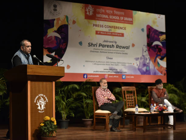 IND: National School Of Drama Chairperson Paresh Rawal Addresses Media At NSD Campus